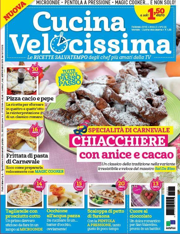 Le mie ricette sulla rivista cucina velocissima il blog for Riviste cucina